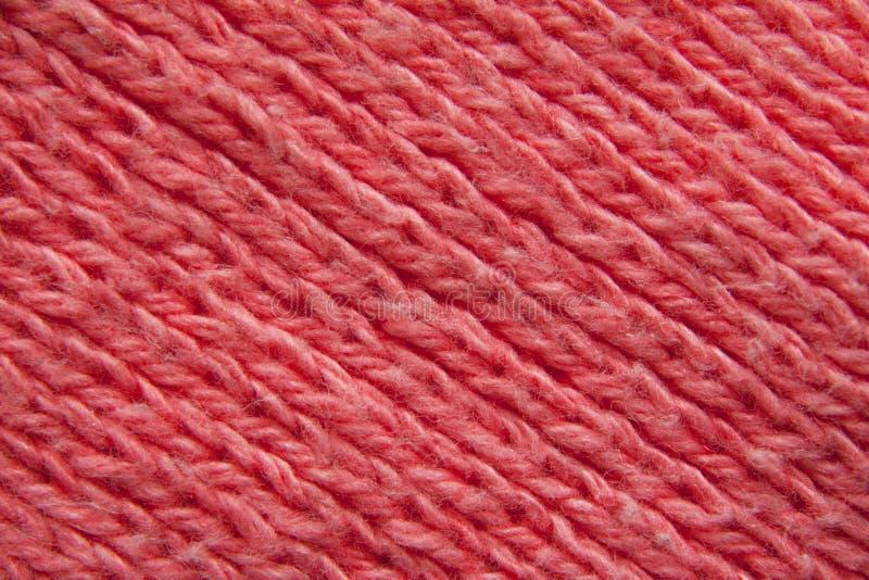 纺织品宏观红色 免版税库存照片