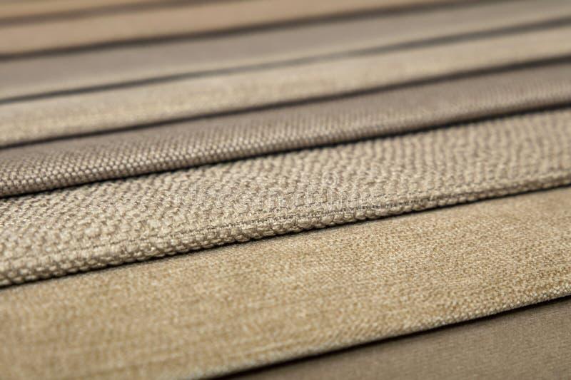 纺织品编目,五颜六色的织品样品 库存照片