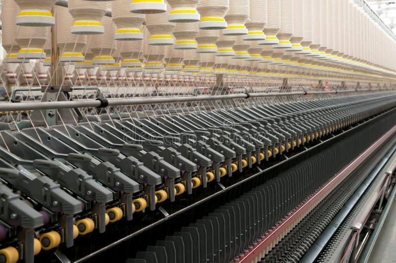 纺织工业-转动 库存照片