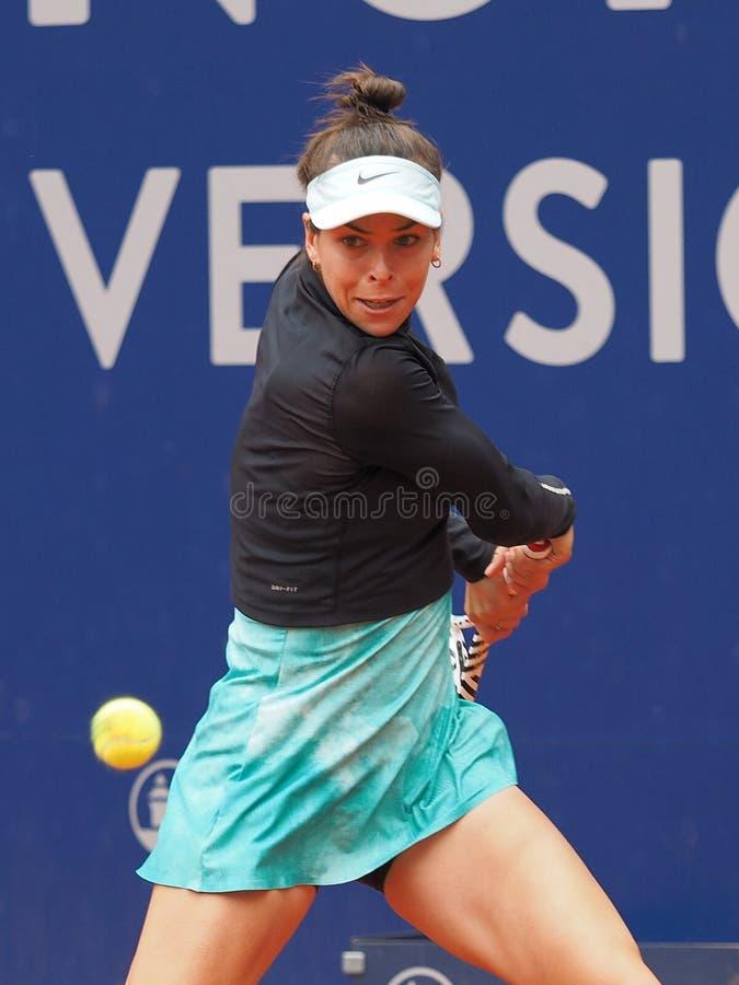 纽伦堡,德国- 2019年5月21日:澳大利亚网球员欧元250的Ajla Tomljanovic 000个WTA Versicherungscup比赛 免版税库存图片