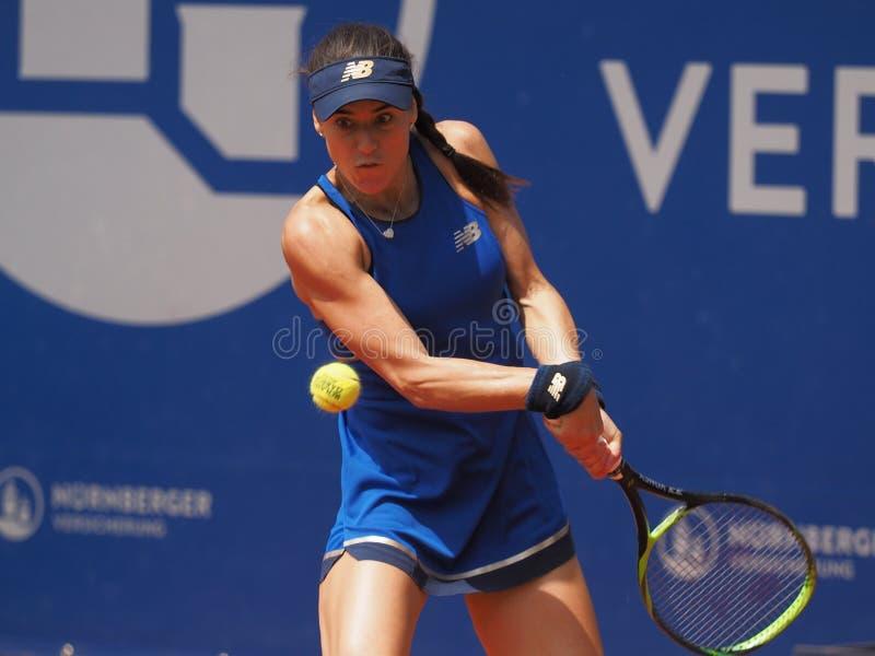 纽伦堡,德国- 2019年5月24日:罗马尼亚网球员欧元250的索勒纳Cirstea 000个WTA Versicherungscup比赛 免版税库存图片