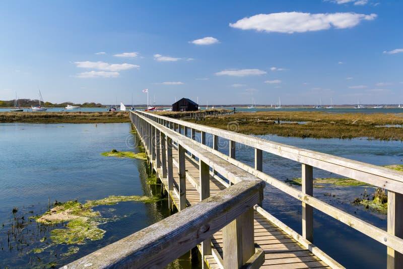 纽敦港口国家级自然保护区怀特岛郡英国 免版税库存图片