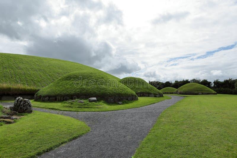 纽格莱奇墓古墓在北爱尔兰 库存图片