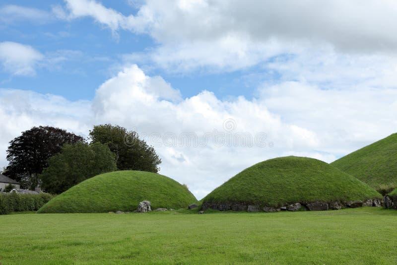 纽格莱奇墓古墓在北爱尔兰 库存照片