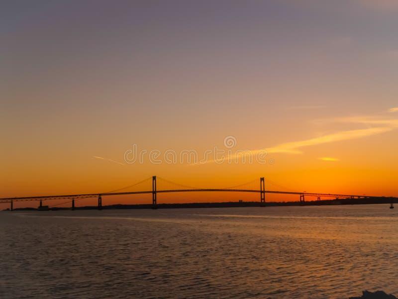 纽波特桥梁 库存图片