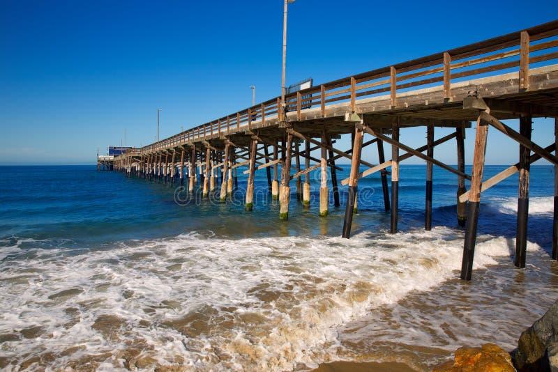 纽波特码头海滩在加利福尼亚美国 免版税库存图片