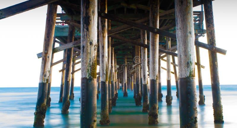 纽波特码头 免版税图库摄影