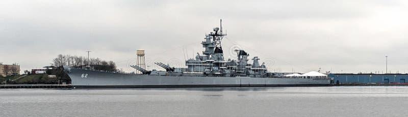 纽泽西号战舰BB-62 -坎登,NJ 免版税库存图片