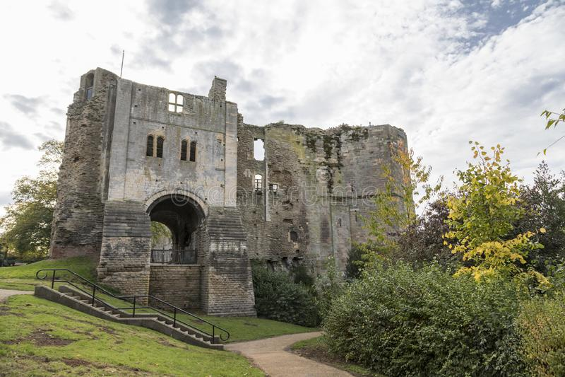 纽瓦克城堡在诺丁汉郡 图库摄影