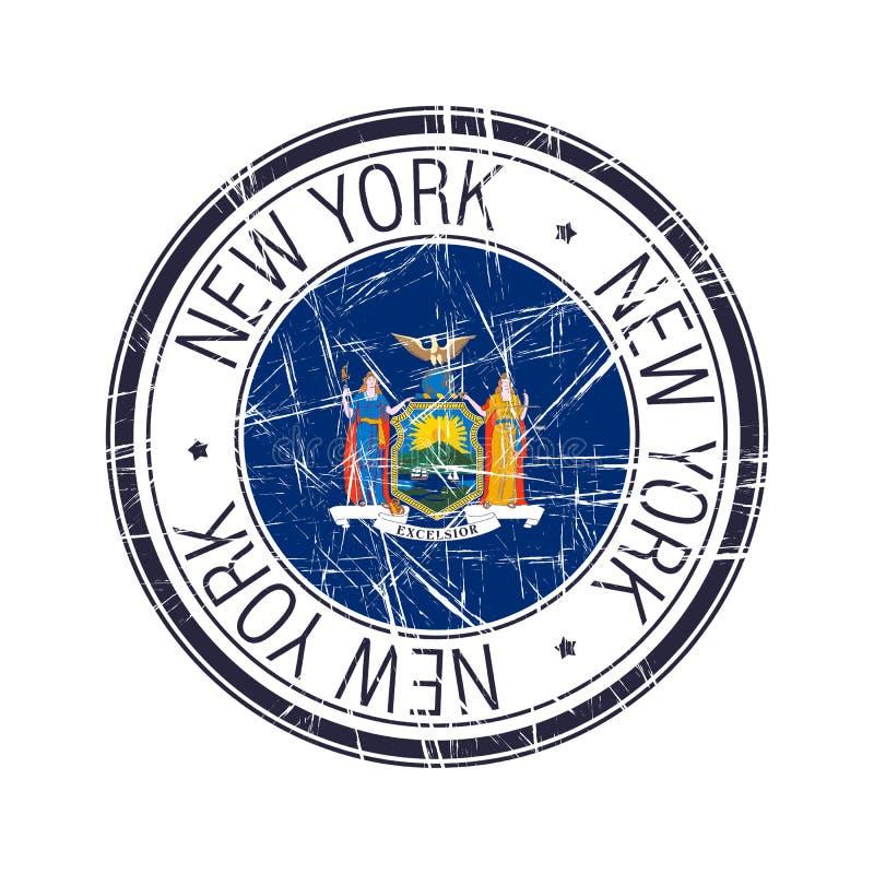 纽约不加考虑表赞同的人 库存例证