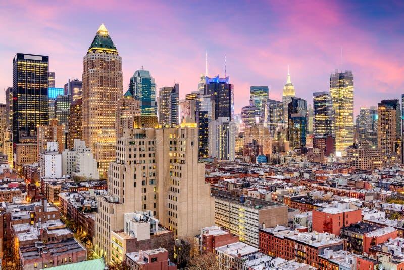 纽约中间地区都市风景 免版税库存照片