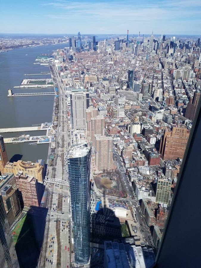 纽约从上面 免版税图库摄影