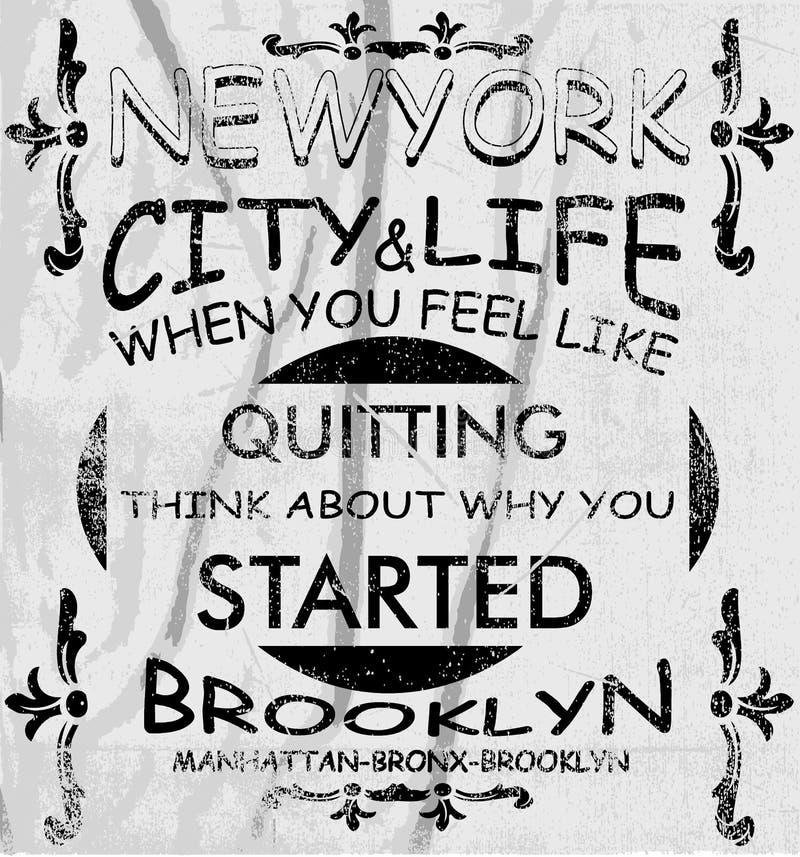 纽约传染媒介艺术 皇族释放例证