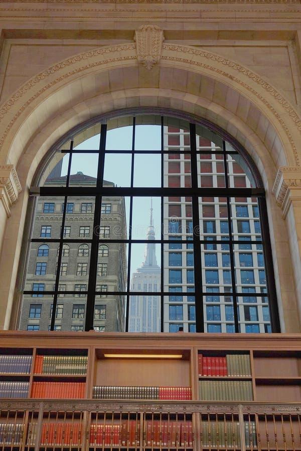 纽约公立图书馆美国书 免版税图库摄影