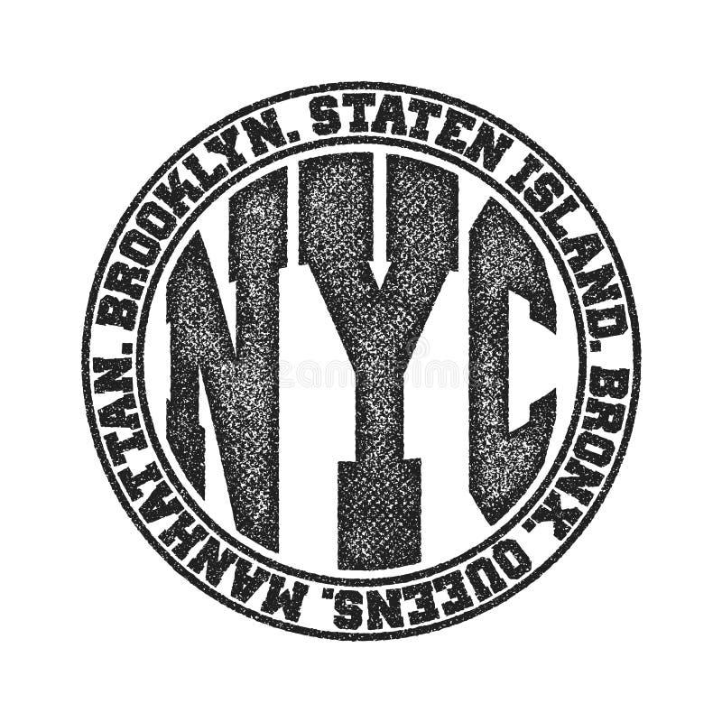 纽约印刷术图表 库存例证