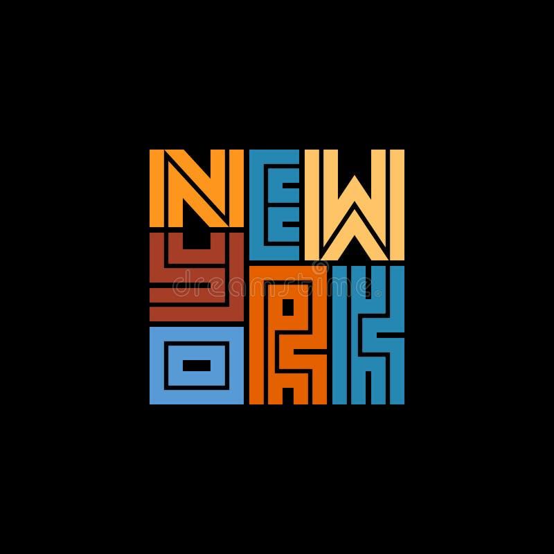 纽约印刷术海报 印刷品生产的概念 皇族释放例证