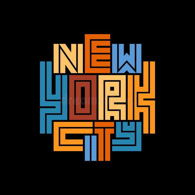 纽约印刷术海报 印刷品生产的概念 向量例证
