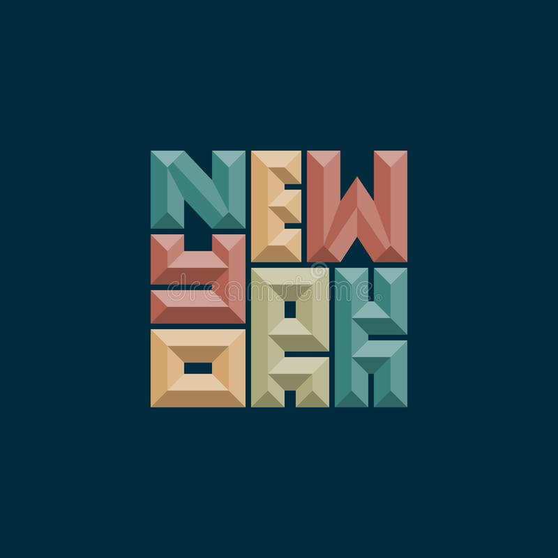 纽约印刷术海报 印刷品生产的概念 库存例证