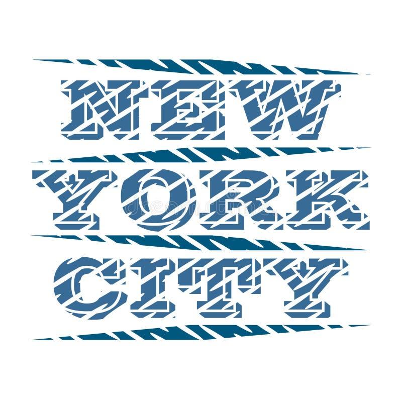 纽约印刷术,T恤杉NY,设计图表 皇族释放例证