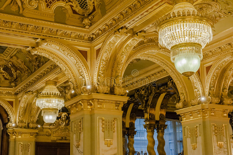 纽约咖啡馆-布达佩斯,匈牙利 免版税图库摄影