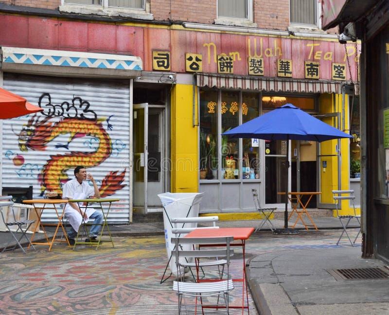 纽约唐人街人生活方式地道城市生活中国人文化 免版税库存照片