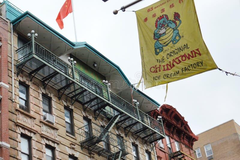 纽约唐人街街中国公共曼哈顿时髦都市生活 图库摄影