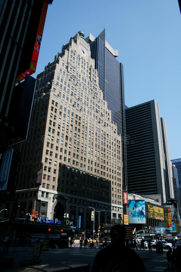 纽约在时报广场的警察局 免版税库存照片