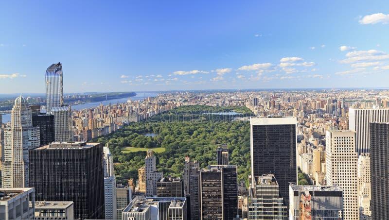 纽约地平线,中央公园 免版税库存图片