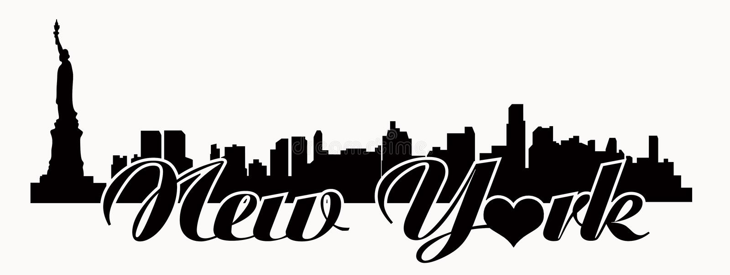 纽约地平线-爱N Y 库存例证