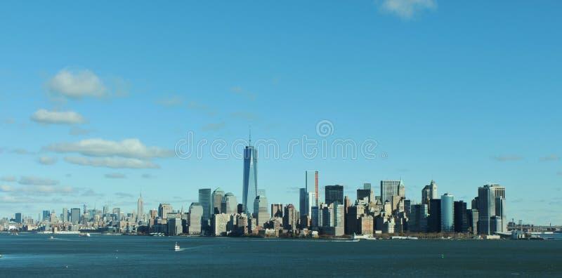 纽约地平线/都市风景 免版税图库摄影