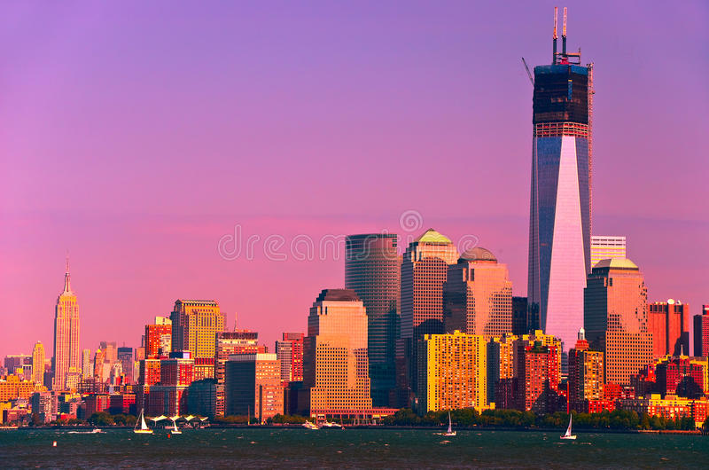 纽约地平线 免版税图库摄影