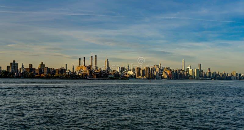 纽约地平线Cityview曼哈和帝国大厦 库存照片
