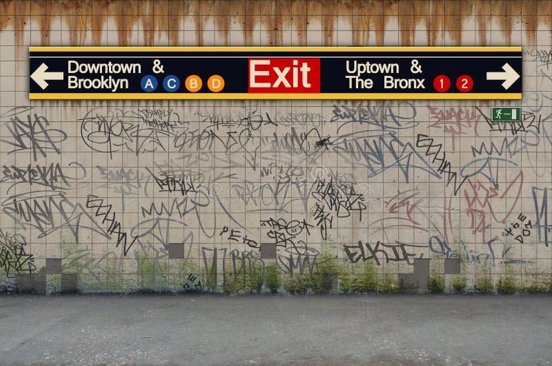 纽约地铁火车站 免版税库存图片