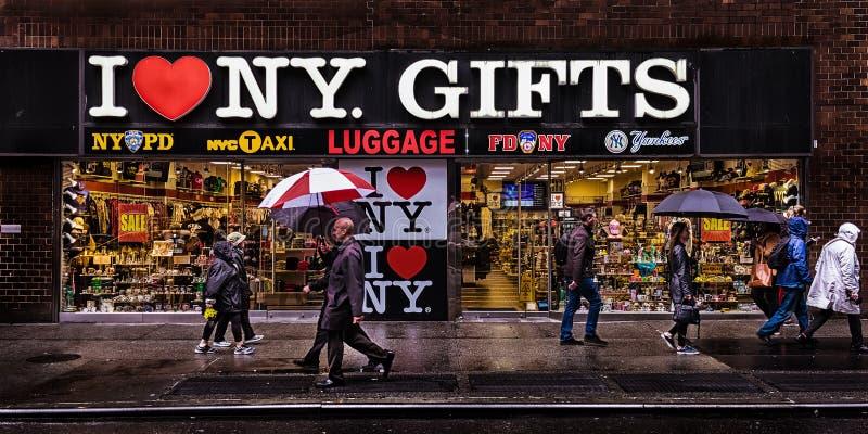 纽约城市礼物商店 免版税库存照片