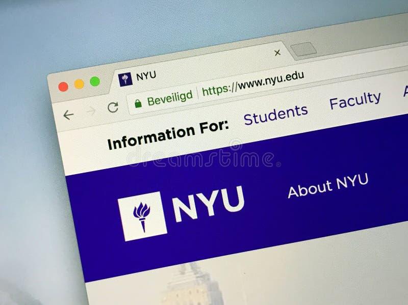 纽约大学NYU主页  免版税库存照片