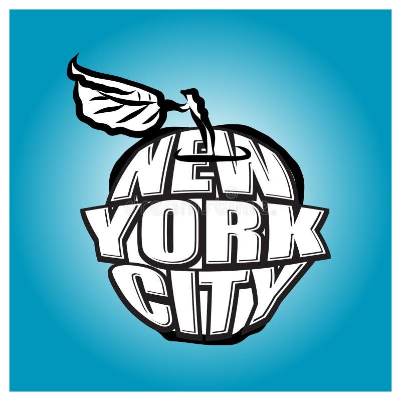 纽约大苹果计算机商标 皇族释放例证