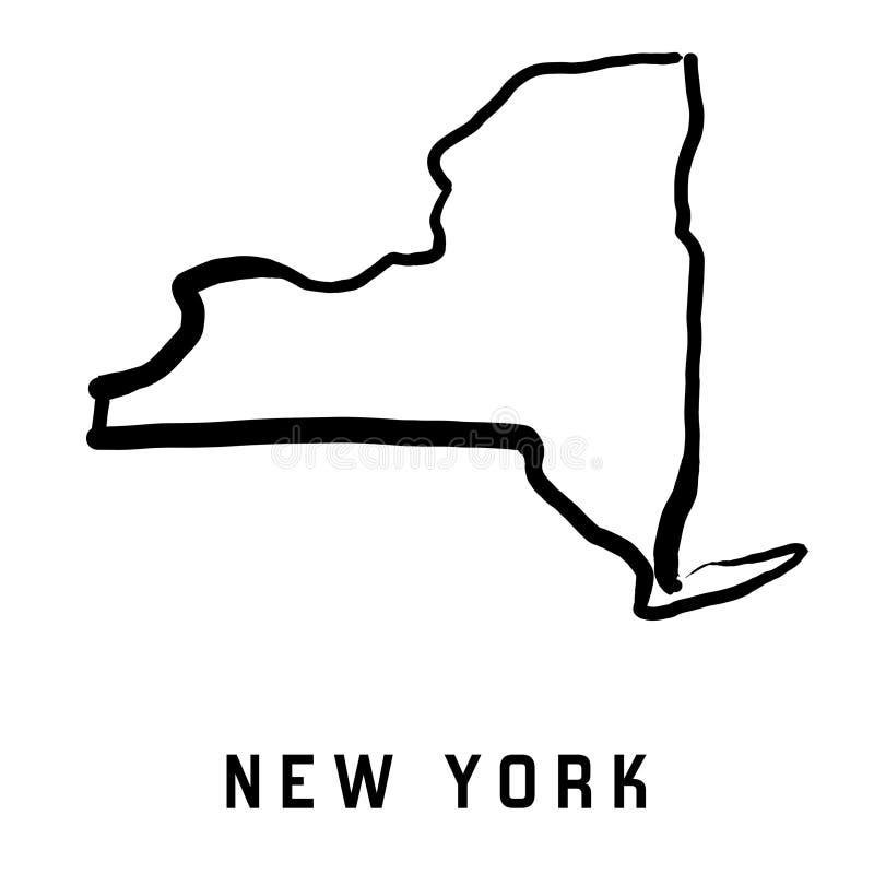 纽约州地图 皇族释放例证