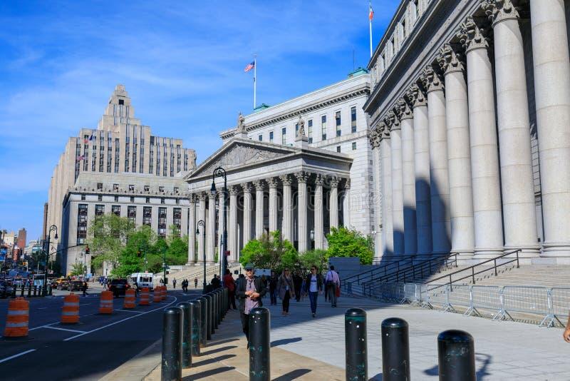 纽约州最高法院大厦在曼哈顿, NYC 库存照片