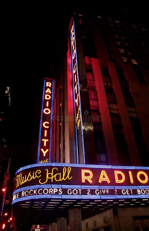 纽约市音乐厅,美国纽约 库存图片