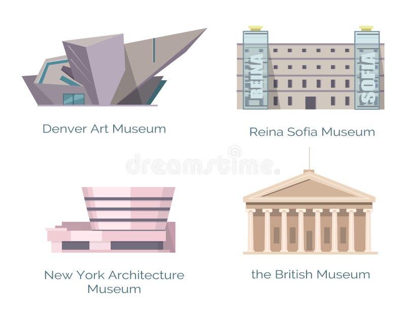 纽约建筑学博物馆,英国丹佛艺术 库存例证