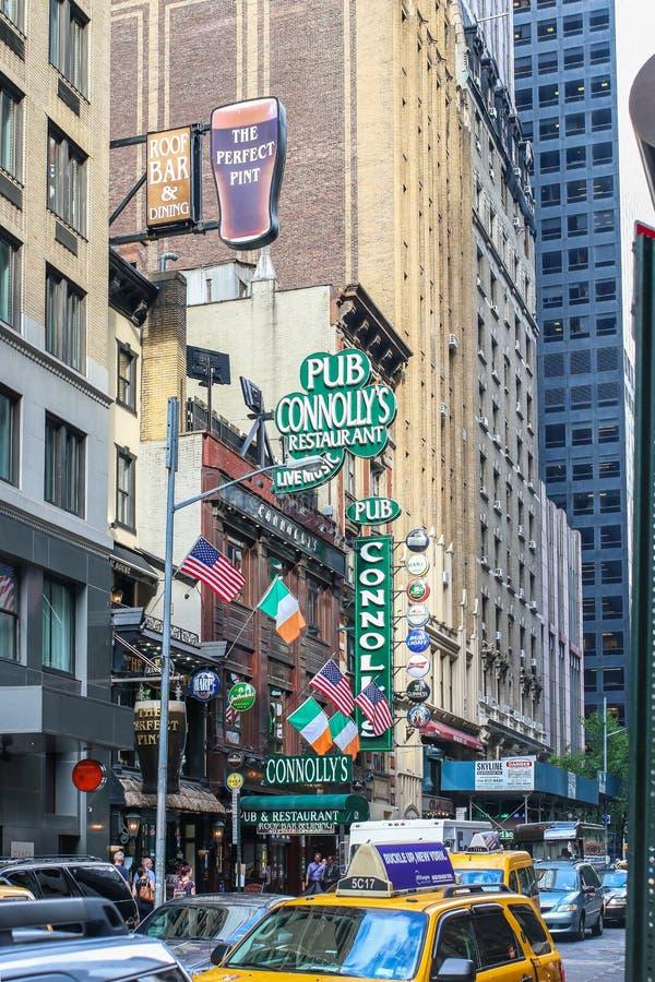 纽约建筑学和客栈Connollys 库存照片