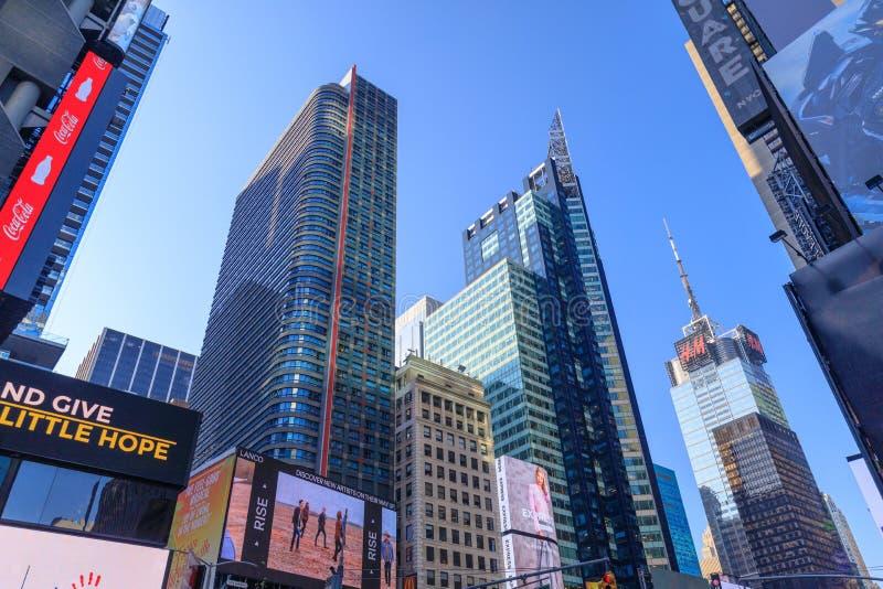纽约建筑学在美国时常摆正 库存照片
