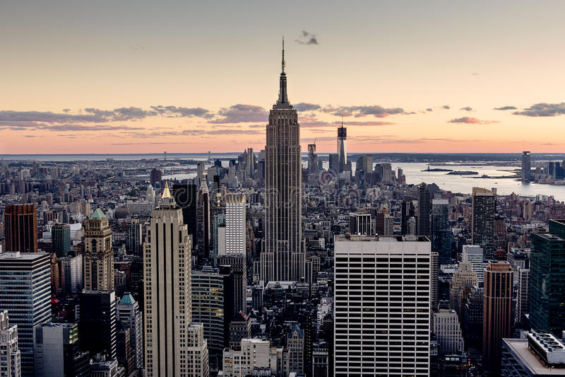 纽约摩天大楼 库存图片