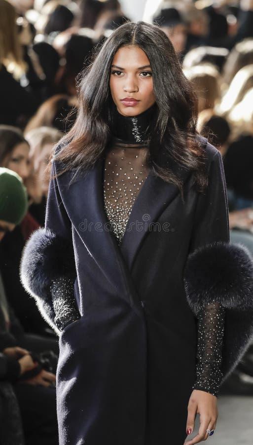 纽约时尚星期FW 2017年- Pamella罗兰特汇集 库存照片