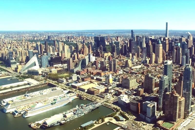 纽约是鸟` s眼睛视图 ci的摩天大楼 免版税图库摄影