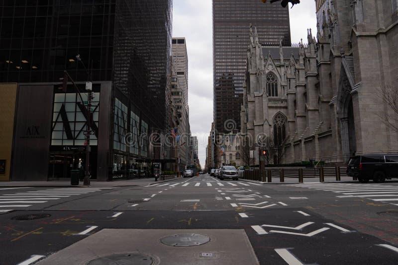纽约曼哈顿中城第五大道圣帕特里克大教堂 免版税库存图片