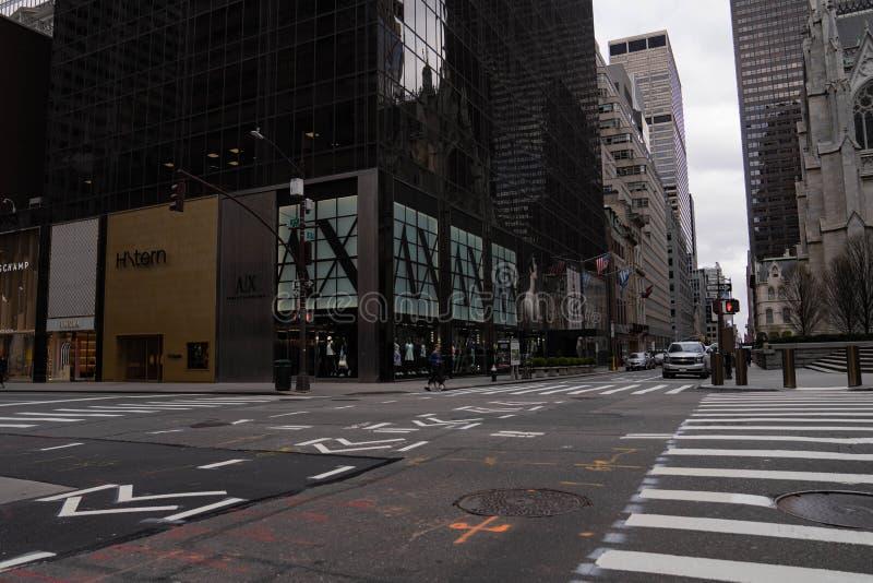 纽约曼哈顿中城第五大道 免版税库存图片