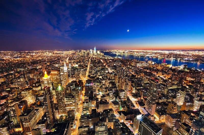 纽约曼哈顿w自由塔和新泽西 库存照片