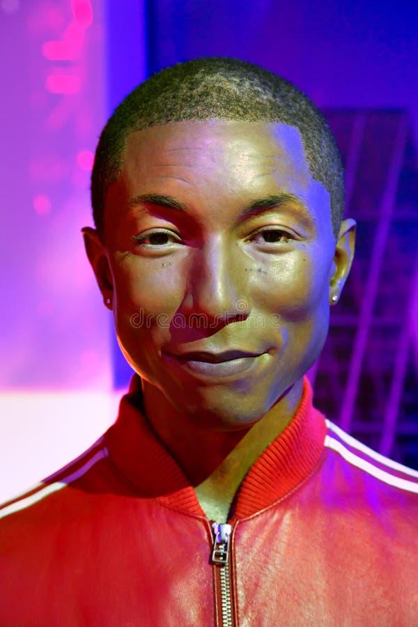纽约杜莎夫人蜡象馆的Pharrell威廉斯  库存图片