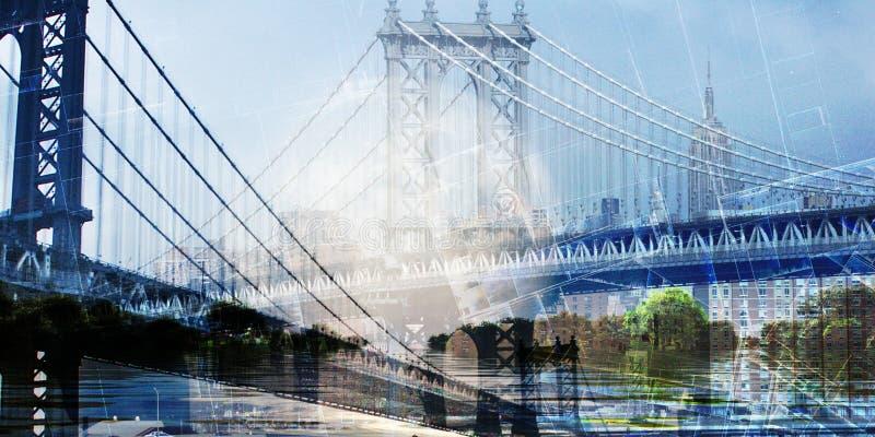 纽约桥 免版税库存照片